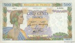 500 Francs LA PAIX FRANCE  1942 F.32.38 SPL