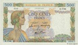500 Francs LA PAIX FRANCE  1943 F.32.44 SUP