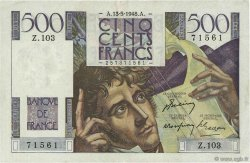 500 Francs CHATEAUBRIAND FRANCE  1948 F.34.08 TTB