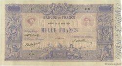1000 Francs BLEU ET ROSE FRANCE  1891 F.36.03 TTB+