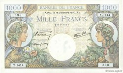 1000 Francs COMMERCE ET INDUSTRIE FRANCE  1940 F.39.03 TTB+