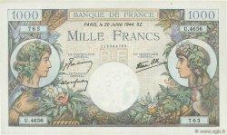 1000 Francs COMMERCE ET INDUSTRIE FRANCE  1944 F.39.12 SUP à SPL