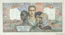 5000 Francs EMPIRE FRANCAIS FRANCE  1945 F.47.20 TTB+