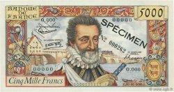 5000 Francs HENRI IV FRANCE  1957 F.49.00 SUP+