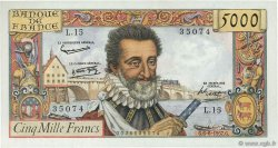 5000 Francs HENRI IV FRANCE  1957 F.49.02 SPL