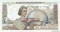 10000 Francs GÉNIE FRANÇAIS FRANCE  1945 F.50.01 TB