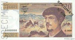 20 Francs DEBUSSY FRANCE  1980 F.66.00 pr.SPL
