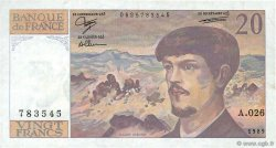 20 Francs DEBUSSY FRANCE  1989 F.66.10a TTB+