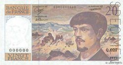 20 Francs DEBUSSY à fil de sécurité FRANCE  1990 F.66bis.00 pr.SPL