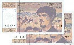 20 Francs DEBUSSY Modifié FRANCE  1997 F.66ter.02 NEUF
