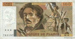 100 Francs DELACROIX modifié FRANCE  1979 F.69.02c TB+