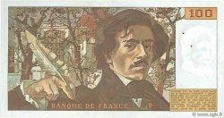 100 Francs DELACROIX modifié FRANCE  1980 F.69.04 SUP
