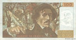 100 Francs DELACROIX modifié FRANCE  1982 F.69.06 TB+