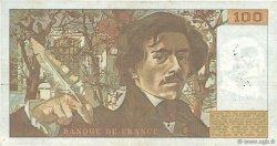 100 Francs DELACROIX modifié FRANCE  1982 F.69.06 TB+