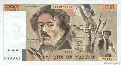 100 Francs DELACROIX modifié FRANCE  1986 F.69.09 SPL