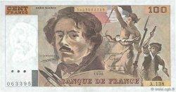 100 Francs DELACROIX imprimé en continu FRANCE  1990 F.69bis.01a SPL+