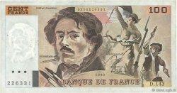 100 Francs DELACROIX imprimé en continu FRANCE  1990 F.69bis.01b4 TB+