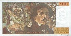 100 Francs DELACROIX imprimé en continu FRANCE  1990 F.69bis.02e2 SUP+