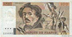 100 Francs DELACROIX imprimé en continu FRANCE  1991 F.69bis.03a4 TB+