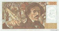 100 Francs DELACROIX imprimé en continu FRANCE  1991 F.69bis.03c1 TB à TTB