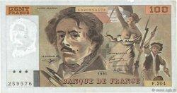 100 Francs DELACROIX imprimé en continu FRANCE  1991 F.69bis.04b TTB