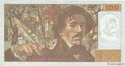100 Francs DELACROIX imprimé en continu FRANCE  1991 F.69bis.04b TTB+