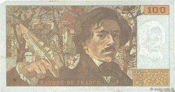 100 Francs DELACROIX imprimé en continu FRANCE  1991 F.69bis.04b TB