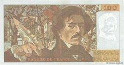 100 Francs DELACROIX imprimé en continu FRANCE  1991 F.69bis.04c TTB