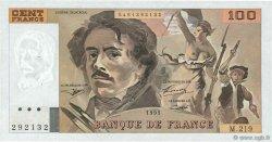 100 Francs DELACROIX imprimé en continu FRANCE  1993 F.69bis.07 pr.SUP