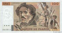 100 Francs DELACROIX imprimé en continu FRANCE  1993 F.69bis.07 TTB+