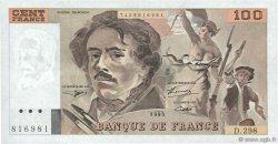 100 Francs DELACROIX 442-1 & 442-2 FRANCE  1995 F.69ter.02d SUP