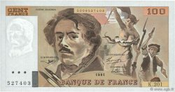 100 Francs DELACROIX  UNIFACE FRANCE  1995 F.69U.06 SPL