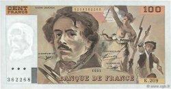 100 Francs DELACROIX  UNIFACE FRANCE  1995 F.69U.07 pr.NEUF