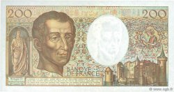 200 Francs MONTESQUIEU FRANCE  1990 F.70.10b pr.SPL