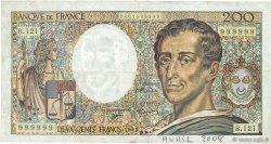 200 Francs MONTESQUIEU FRANCE  1992 F.70.12b TB+
