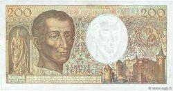 200 Francs MONTESQUIEU alphabet 101 FRANCE  1992 F.70bis.01 SUP+