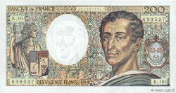 200 Francs MONTESQUIEU alphabet 101 FRANCE  1992 F.70bis.01 pr.SUP