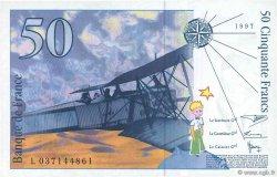 50 Francs SAINT-EXUPÉRY mouton en haut FRANCE  1997 F.72bis.02 pr.NEUF