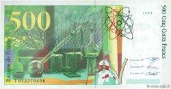 500 Francs PIERRE ET MARIE CURIE sans STRAP FRANCE  1995 F.76qua.02 SUP+