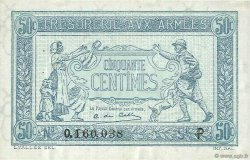 50 Centimes TRÉSORERIE AUX ARMÉES FRANCE  1917 VF.01.16 SUP+