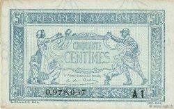 50 Centimes TRÉSORERIE AUX ARMÉES FRANCE  1919 VF.02.10 SUP