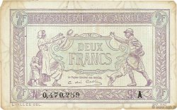 2 Francs TRÉSORERIE AUX ARMÉES FRANCE  1917 VF.05.01 TTB+