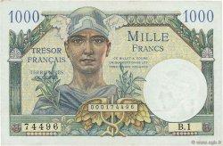 1000 Francs TRÉSOR FRANÇAIS FRANCE  1947 VF.33.01 SUP+ à SPL