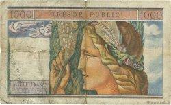 1000 Francs TRÉSOR PUBLIC FRANCE  1955 VF.35.01 TB