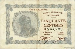 50 Centimes MINES DOMANIALES DE LA SARRE FRANCE  1919 VF.50.02 pr.TTB