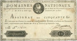 50 Livres FRANCE  1790 Ass.04a pr.TTB