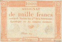 1000 Francs FRANCE  1795 Ass.50a TTB