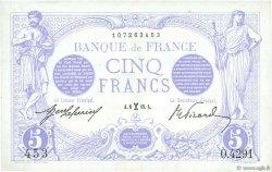 5 Francs BLEU FRANCE  1915 F.02.24 SUP+