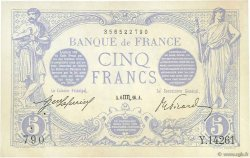 5 Francs BLEU FRANCE  1916 F.02.42 SUP