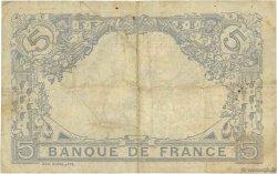 5 Francs BLEU lion inversé FRANCE  1917 F.02bis.04 pr.TB
